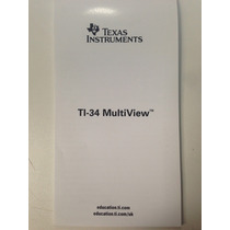 Texas Instruments - Manual Da Calculadora Ti-34 Multiview