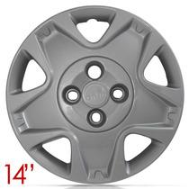 Jogo Calota Aro 14 Ford Fiesta 2011 2012 Parafuso Cubo Baixo