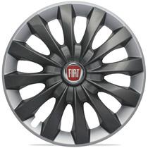 Jogo Calota Aro 13 Flap Graphite Silver Fiat Uno Palio Siena