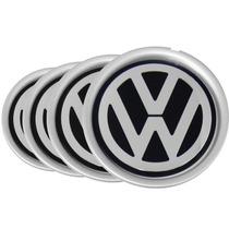 Jogo 4 Calota Centro De Roda Audi A3 Emblema Volkswagen