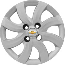 Jogo Calota Aro 13 Celta Prisma 2012 Emblema Gm Alumínio 3d