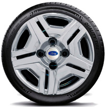 Calota Cromada Jogo 4pçs Fiesta Ford Ka Aro 13 Ford 132chrj