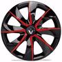 Jogo Calota Aro 13 Prime Red Renault Clio 4peças