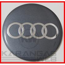 Emblema Adesivo Calota Miolo Tampa Roda Audi 69mm/6,9cm-1 Pç