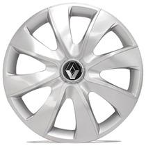 Jogo Calota 13 Prata Prime Silver Renault Clio Logan Sandero