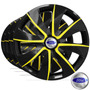 Calota Jogo Aro 13 Espor Black Yellow Ford Fiesta 2000/...