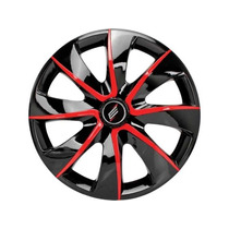 Calota Esportiva Aro 13 Black Red Carro Automotiva ( Jogo )