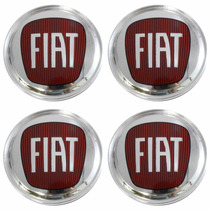 Kit Calotinha Centro De Roda Brw Wheels Emblema Fiat 55mm