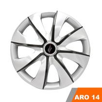 Calota Aro 14 Esportiva Gol G2,g3,g4,g5,g6 Silver Grafite