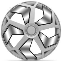 Calota Esportiva Aro 13 Lamborghini Prata Cromado Universal