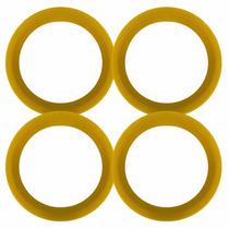 Jogo 4 Anel Centralizador Roda Esportiva Fiat 73,6mm Amarelo