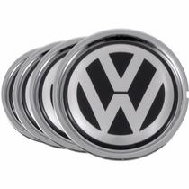 Jogo 4 Calota Centro De Roda Audi A3 Cromado Volkswagen