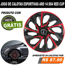 Gm Prisma Onix Corsa Classic Calota Esportiva Aro 14 Jogo