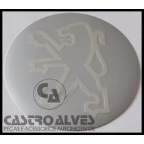 Emblema Adesivo Calota Tampa Roda Peugeot Prata 55mm -1 Pç