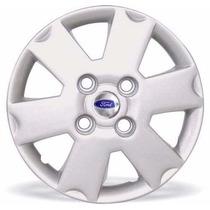 Jogo Calotas Ford Ka Fiesta Courier 03/.. Aro 13 Com Emblema
