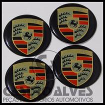 Jg Emblemas Adesivo Miolo Tampa Roda Porsche 51mm - 4 Pçs