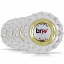 Jogo Calota Centro Miolo Roda Bbs Brw900 Branco Dourado Logo