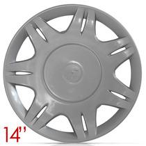 Jogo Calota Aro 14 Ford Courrier Fiesta 01 02 Aro De Pressão