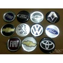 Kit Emblema Gm Vw Renault Fiat Ford Peugeot Toyota 48 Mm