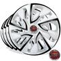 Calota Jogo Aro 14 Esportiva White Fiat Palio 2006/...4pcs