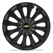 Calota 13 Passat Preta Black Grafite Gm Celta Classic Prisma