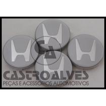 Calota Calotinha Roda Esportiva Scorro Honda 5,6cm - 4 Pçs