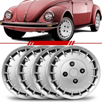 Jogo Calota Universal Roda Ferro Aro 14 Volkswagen Brasilia