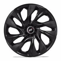 Calota Aro 14 Preta Ds4 Black Cup Fiat Ford Gm Vw Universal