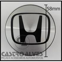 Calota Miolo Tampa Central Roda Honda New Fit City 58mm-1 Pç