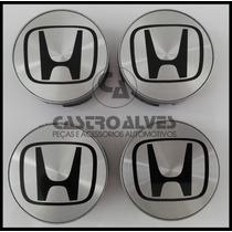 Jg Calota Tampa Central Roda Honda New Fit City 58mm - 4 Pçs