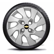 Calota Aro 14 Gm Corsa Classic 2012 C/emblema - Jogo 4 Peças