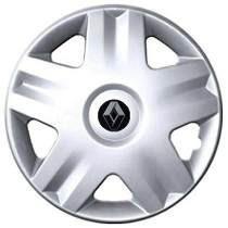 Jogo Calotas Clio Sandero Renault Aro 14 Com Emblema
