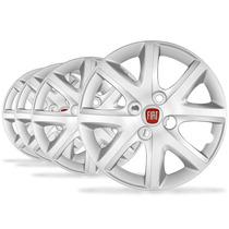 Jogo Calota Aro 14 Siena El 1.4 2014 Emblema Fiat - P26