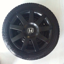 Calota Fit Civic Honda Aro14 Preto Fosco Emb.original P434pf