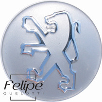 Emblema Rodas Peugeot Prata 51mm - Unitário