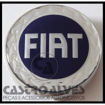 Calota Central Roda Esportiva Scorro Fiat Azul 56mm - 1 Pç
