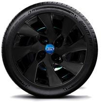 Calota Jogo 4pç Fiesta Ford Ka Focus Aro14 Blackpiano 133pbj