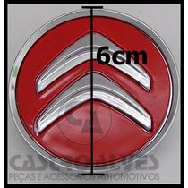Calota Tampa Centro Roda Citroen C3 C4 Aro 15 Vermelho =1 Pç