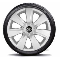 Jogo De Calotas Aro 14 Toyota Etios 2013/.. C/emblema 4peças