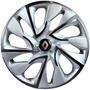 Jogo Calota Aro 14 Ds4 Silver Renault Clio Sander Logan 4peç