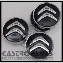 Jg Calota Miolo Tampa Roda Citroen C4 Picasso Preto - 4 Pçs