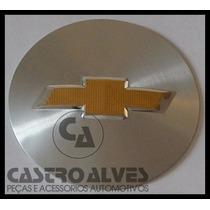 Emblema Adesivo Centro Roda Gm Original 51 Mm Prata/dourado