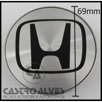Calota Miolo Tampa Central Roda Honda New Civic 69mm - 1 Pç