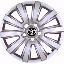 Jogo Calota Toyota Corolla Aro15-05 Furos De Ano 2009 Á 2015