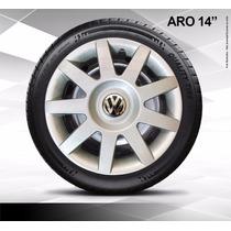 Calota Jogo 4pçs Santana Aro14 Volkswagen P434j