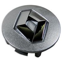 Jogo Calota Tampa Centro Roda Renault Prata Emblema Cromado