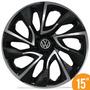 Calota Esportiva 15 Ds4 Black Chrome Vw Fox Polo Golf 5 Furo