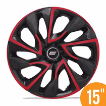 Jogo Calota Esportiva 15 Ds4 Red Cup Fiat Ford Gm Renault Vw