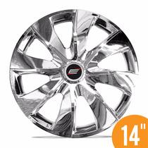 Jg Calota Esportiva 14 Prime Cromada Fiat Ford Gm Renault Vw