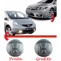Calota Tampa Centro Roda Honda Fit City New Civic Prata